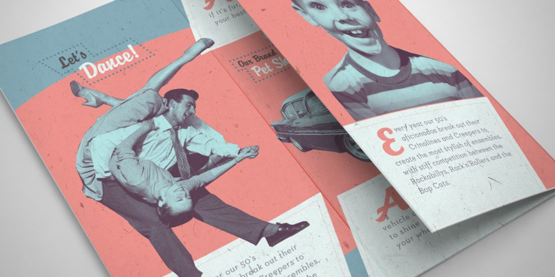 Annual Australian Fifties Fair Brochure Design