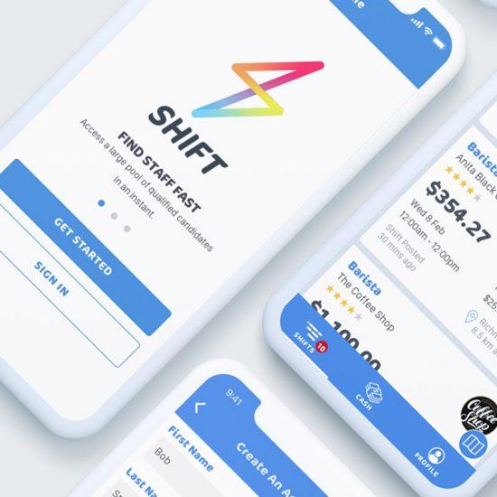 Shift App UI + UX Design